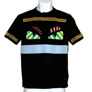 Fendi Bag Bugs Black T-Shirt Monster Eyes Applique